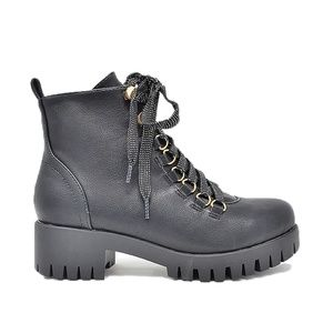 NEW BLACK LACE UP ANKLE COMBAT BOOTS